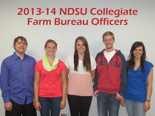 2013-14 NDSU Collegiate Farm Bureau officers