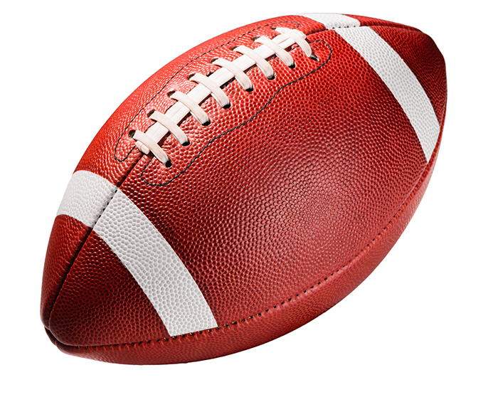 footballs are made from pig skin