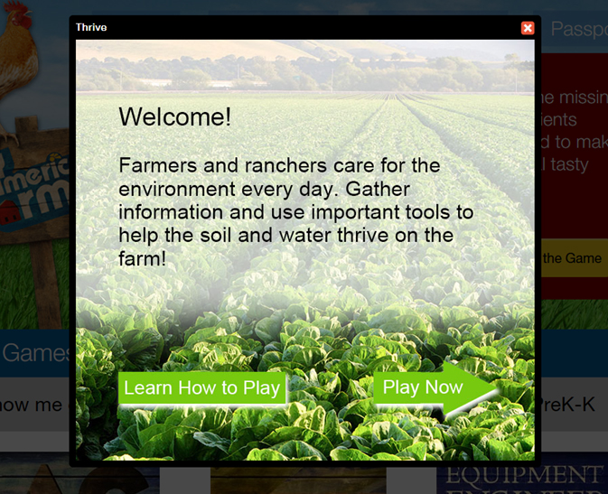 Thrive is newest My American Farm game