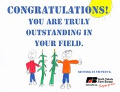 Outstanding in Your Field Postcard - Click to Download