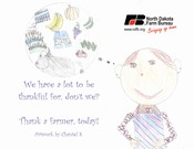 Thank a farmer Postcard - Click to Download